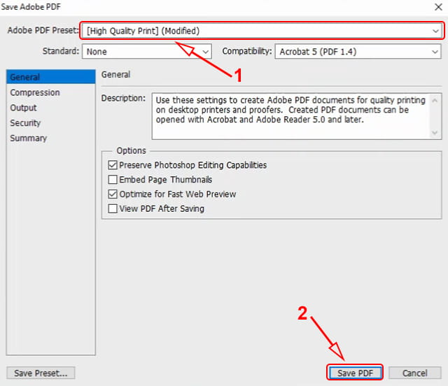 Konversi JPG ke PDF menggunakan Photoshop