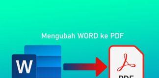 Cara mengubah file Word ke PDF