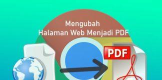 Cara menyimpan halaman web menjadi file pdf
