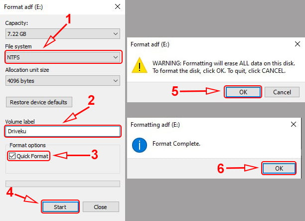 Cara format flashdisk ke ntfs atau fat32