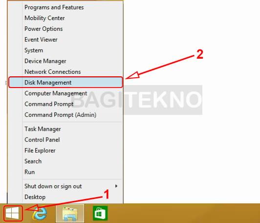 Cara membuka Disk Management