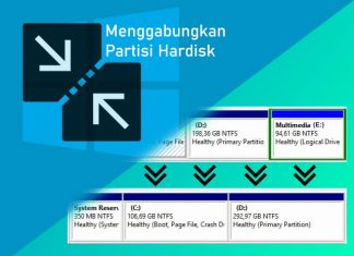 Cara menggabungkan partisi hardisk di Windows