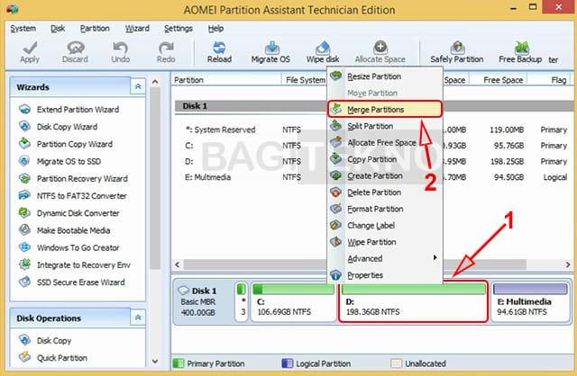 Cara menggabungkan partisi hardisk internal dan eksternal tanpa menghapus data