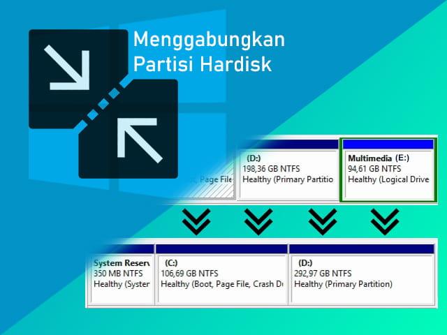 Cara menggabungkan partisi hardisk di Windows