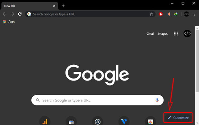Cara mengubah background Google Chrome