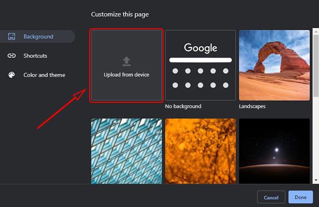 Cara menggunakan gambar sendiri sebagai background Google Chrome