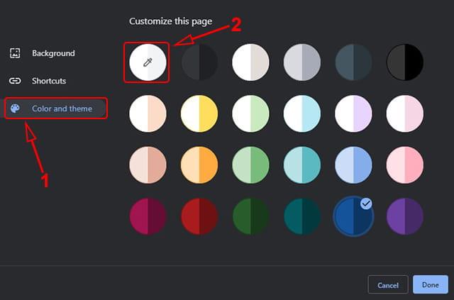Menggunakan warna favorit sebagai tema Google Chrome Desktop