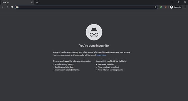 Mode panyamaran Google Chrome Desktop