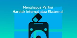 Cara menghapus partisi hardisk di Komputer Windows