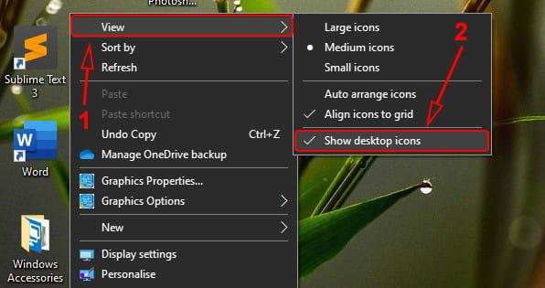 Cara menyembunyikan icon di Desktop Windows