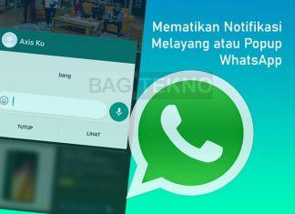Cara menghilangkan notifikasi melayang atau popup di WhatsApp (WA)