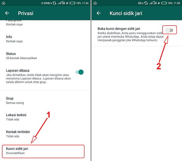 Cara kunci aplikasi WhatsApp (WA) tanpa aplikasi khusus
