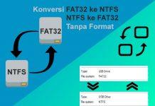 Cara merubah Flashdisk FAT32 ke NTFS dan sebaliknya tanpa format