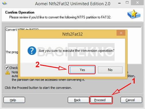Cara merubah NTFS ke FAT32 tanpa format ulang
