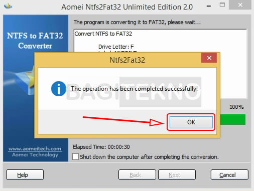 Mengubah NTFS menjadi FAT32 tanpa kehilangan data