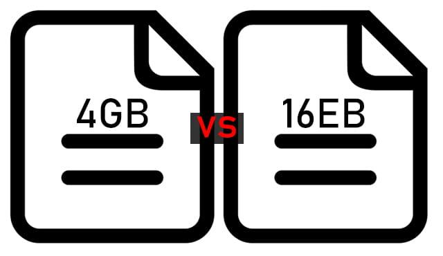 Perbedaan NTFS dan FAT32 dari segi ukuran maksimum tiap file
