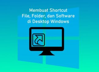 Cara membuat shortcut di Desktop Windows 10,8,7