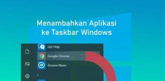 Cara menambahkan aplikasi ke taskbar Windows 10,8,7