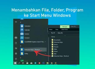 Cara menambahkan file, folder dan program apapun ke Start Menu Windows