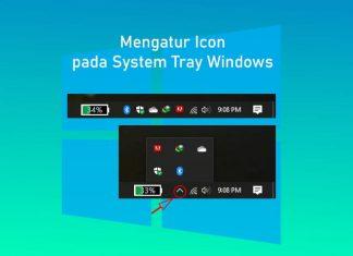 Cara mengatur icon yang tampil di sebelah kanan taskbar Windows