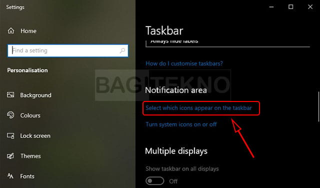 Menyembunyikkan hidden panel di Windows 10