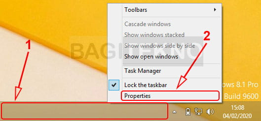 Membuka properties Windows 7 dan Windows 8