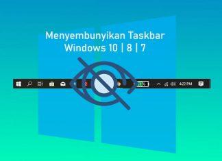 Cara menyembunyikan taskbar Windows 10, 8, 7
