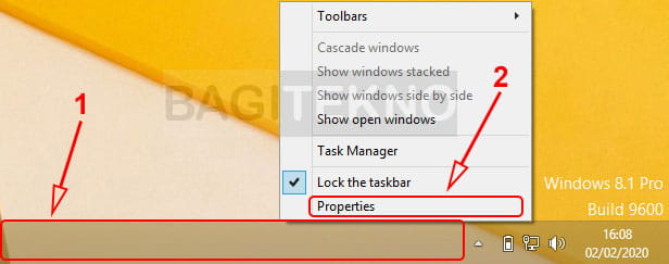 Properties navigasi Windows 8