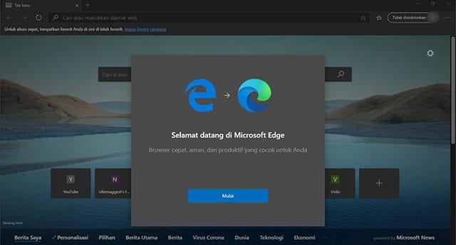 browser Edge terbaru