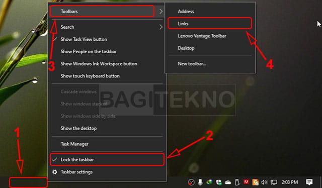 Cara membuat ikon taskbar agar berada di tengah pada Windows