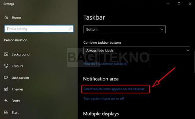 Menyembunyikan beberapa icon system tray