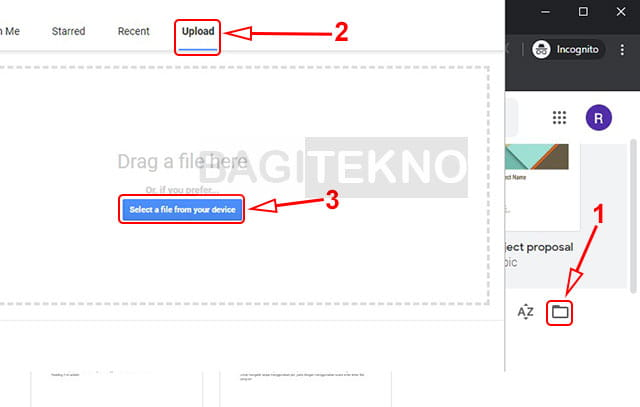 Membuka file Word di Google Docs