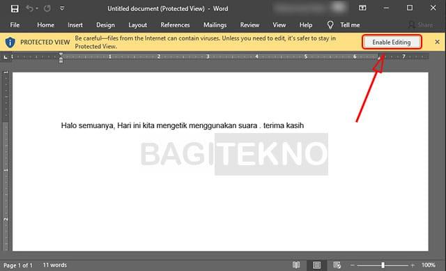 Tidak bisa edit Microsoft Word