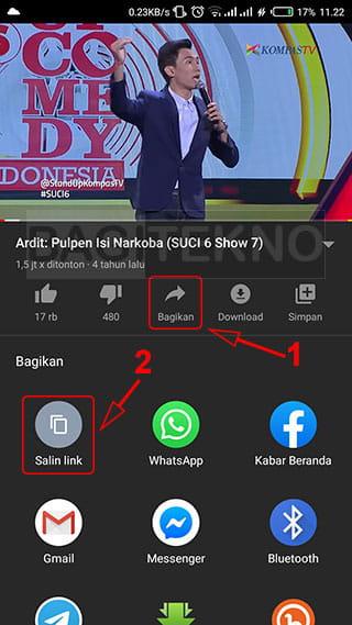 cara nonton youtube bisa buka aplikasi lain