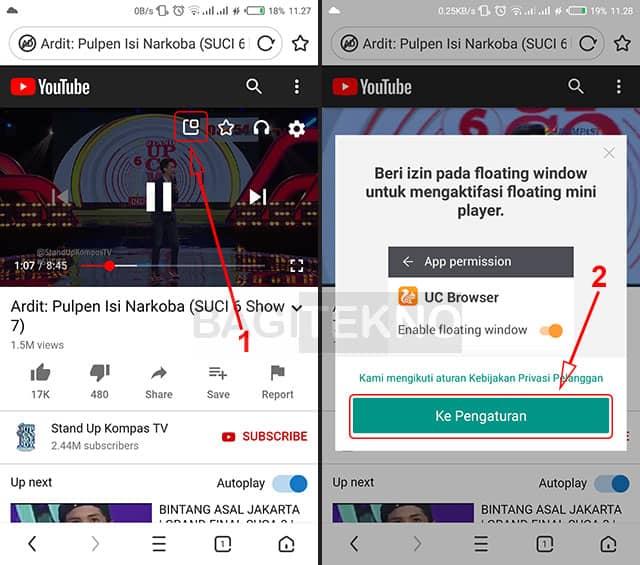 cara nonton youtube tapi bisa buka aplikasi lain