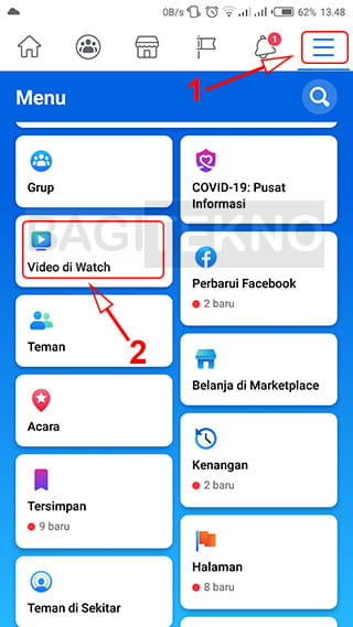 Facebook Watch di Android