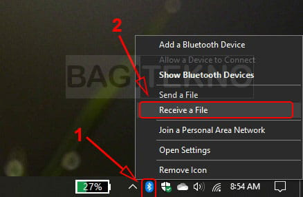Menerima file Bluetooth di Windows 10