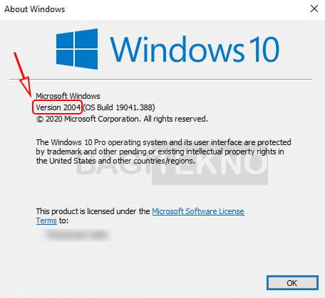 How to see the version of Windows 10 that you are using