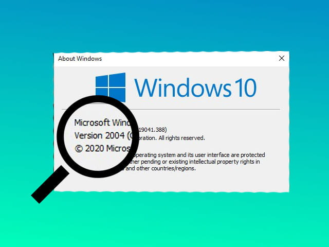 How to check the version of Windows 10 installed on the computer
