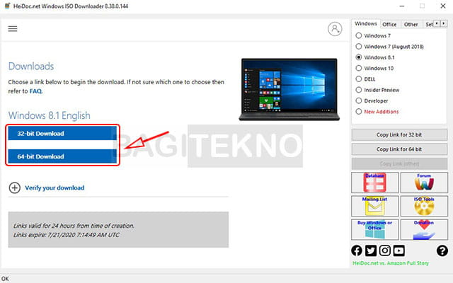 Mengunduh Windows 8 32 bit dan 64 bit