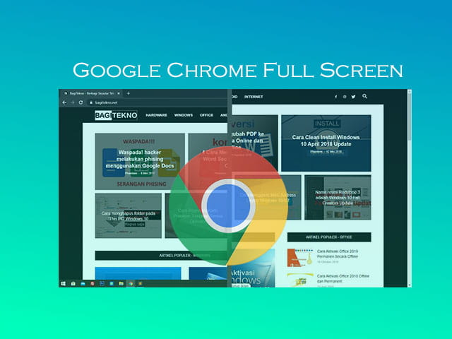 How to make Google Chrome full screen