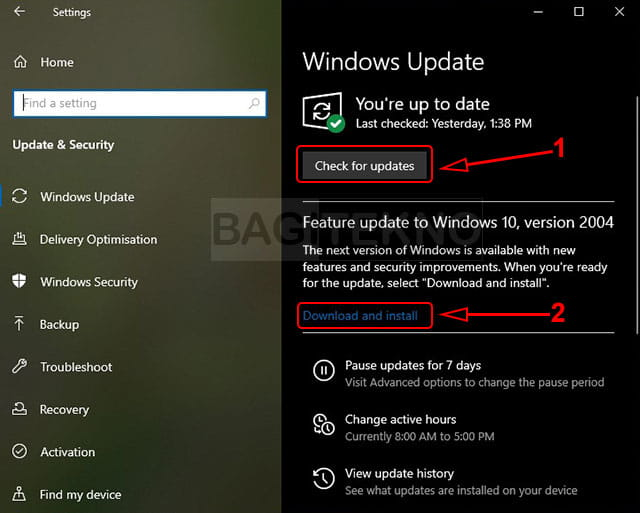 How to download and install the Windows 10 update feature