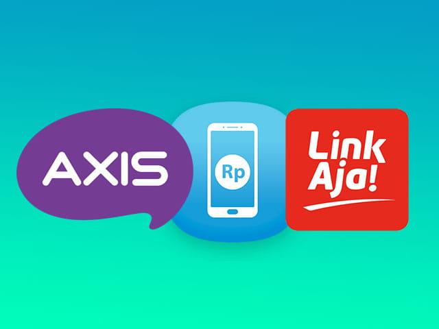 Cara isi pulsa Axis menggunakan aplikasi LinkAja