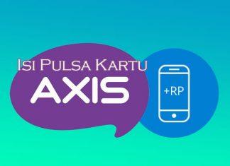 cara isi pulsa kartu Axis menggunakan dompet digital