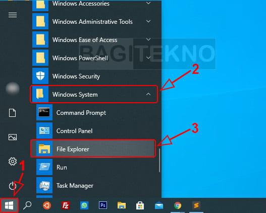 Cara menjalankan File Explorer di Windows 10