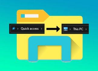 Cara mengganti Quick access menjadi This PC pada tampilan pertama File Explorer