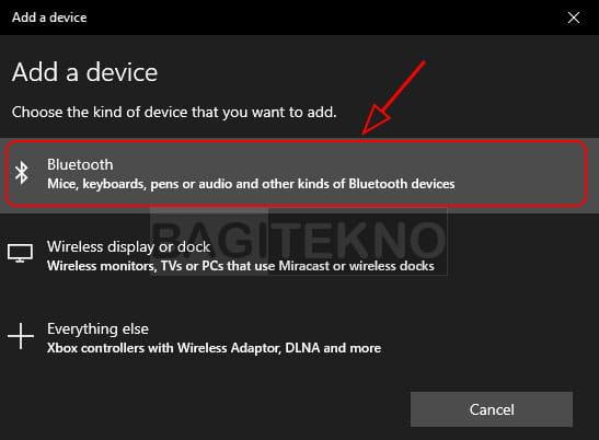 Menghubungkan Bluetooth di Laptop Windows 10