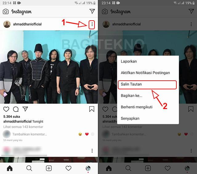 cara mendownload foto di instagram