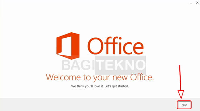 Start Office 2013 setup