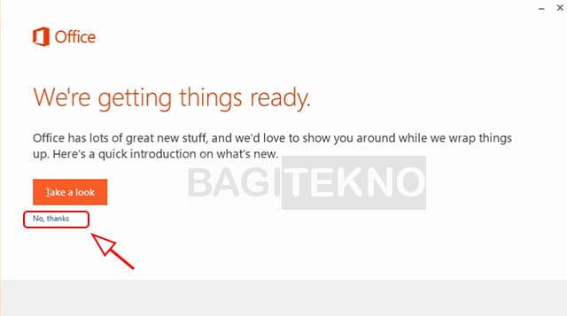 Memulai proses install Microsoft Office 2013